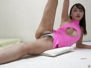 Slender japanese girl pubic hair filling out in tight panty webcam asian hairy
